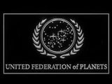 FREE Star Trek United Federation of Planets LED Sign - White - TheLedHeroes