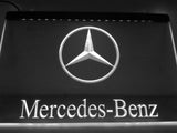 FREE Mercedes Benz 2 LED Sign - White - TheLedHeroes
