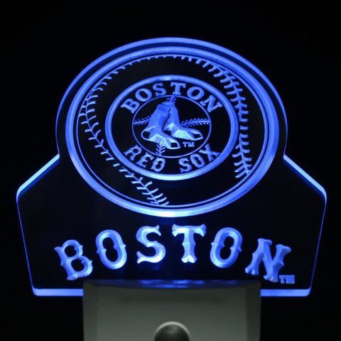 Boston Red Sox Baseball Day/ Night Sensor Led Night Light Sign