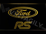 Ford RS LED Neon Sign USB - Yellow - TheLedHeroes