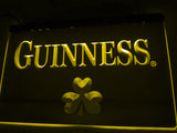 FREE Guinness Beer Shamrock (2) LED Sign - Yellow - TheLedHeroes