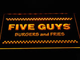 Five Guys LED Neon Sign USB - Purple - TheLedHeroes
