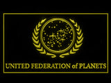 FREE Star Trek United Federation of Planets LED Sign - Yellow - TheLedHeroes