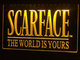 Scarface The World is Yours LED Neon Sign USB - Yellow - TheLedHeroes