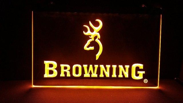 Browning Firearms LED Neon Sign Electrical - Yellow - TheLedHeroes