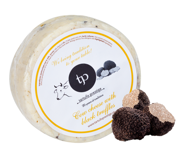 Cow Cheese with 3% Black Truffles (Grass feed and pasture raised)