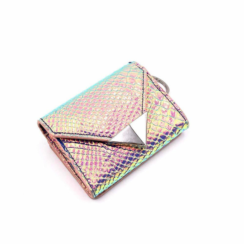 The Future Wallet Keychain- Rainbow Fish | POLICY Handbags | POLICY Handbags