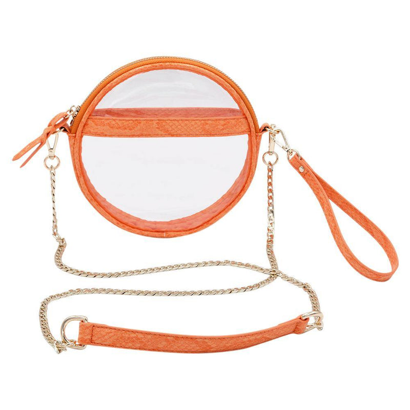 The Mini Roundie- Tangerine - Policy Handbags