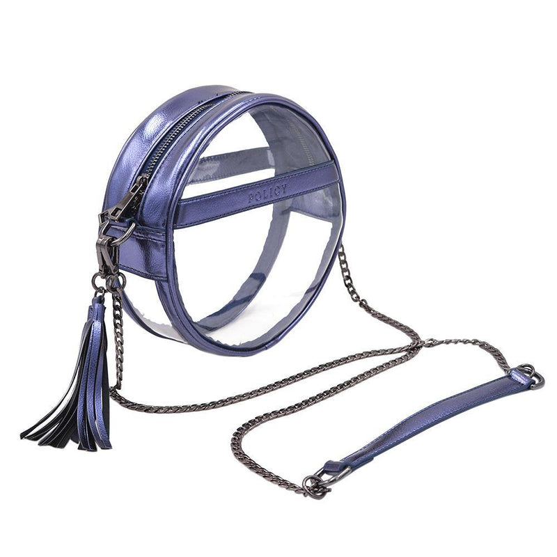 The Bare Roundie- Sapphire - POLICY Handbags Policy Bag