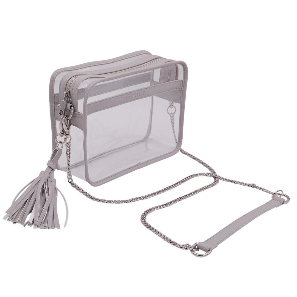The Basic Bare- Powder Gray - POLICY Handbags Policy Bag