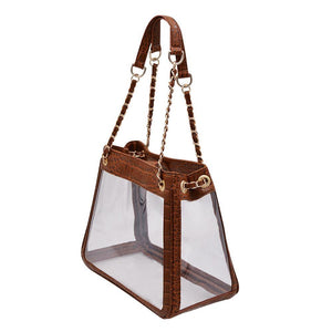 The Bare Boss- Cognac Croc | POLICY Handbags | POLICY Handbags