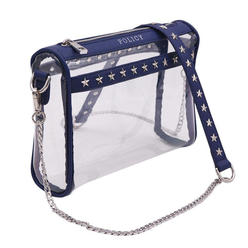 The RockSTAR- Star Studded Navy - POLICY Handbags Policy Bag