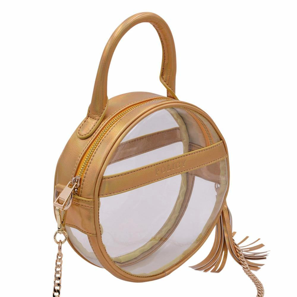 The Roundie Halo- Gleaming Gold - Policy Handbags