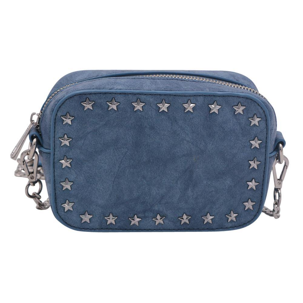 The Star Stunner- Distressed Denim - Policy Handbags