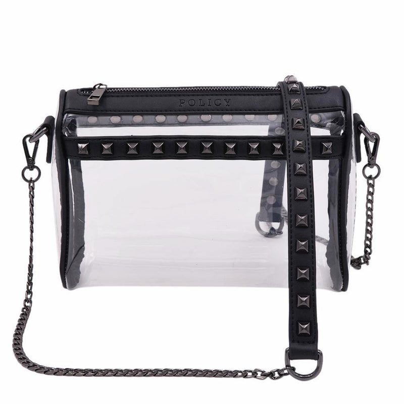 The Rockstar- Black+Gunmetal - Policy Handbags