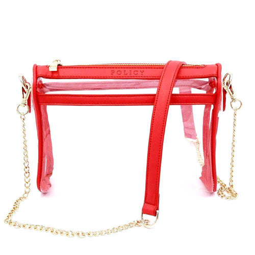 The Original Be Clear- Berry Red - POLICY Handbags Policy Bag
