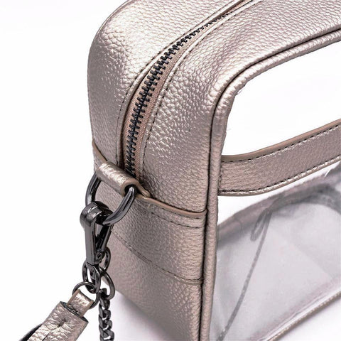 The Bare Cave- Metallic Pewter - POLICY Handbags Policy Bag