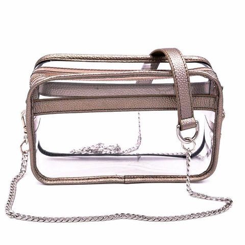 The Bare Box- Metallic Pewter - POLICY Handbags Policy Bag