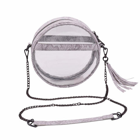 The Bare Roundie- Gravel Snake - POLICY Handbags Policy Bag