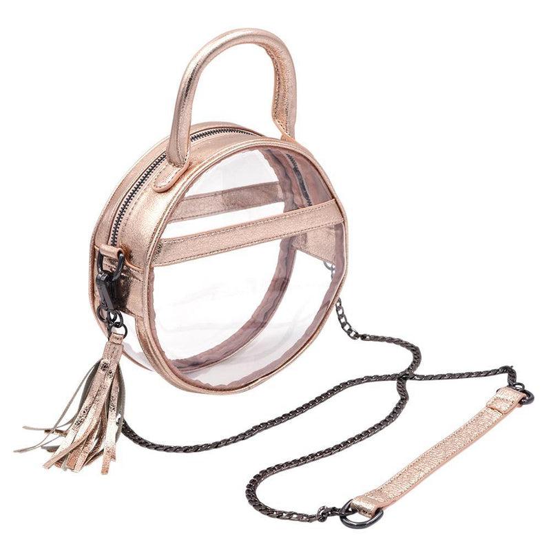 The Roundie Halo- Rosegold Foil - POLICY Handbags Policy Bag