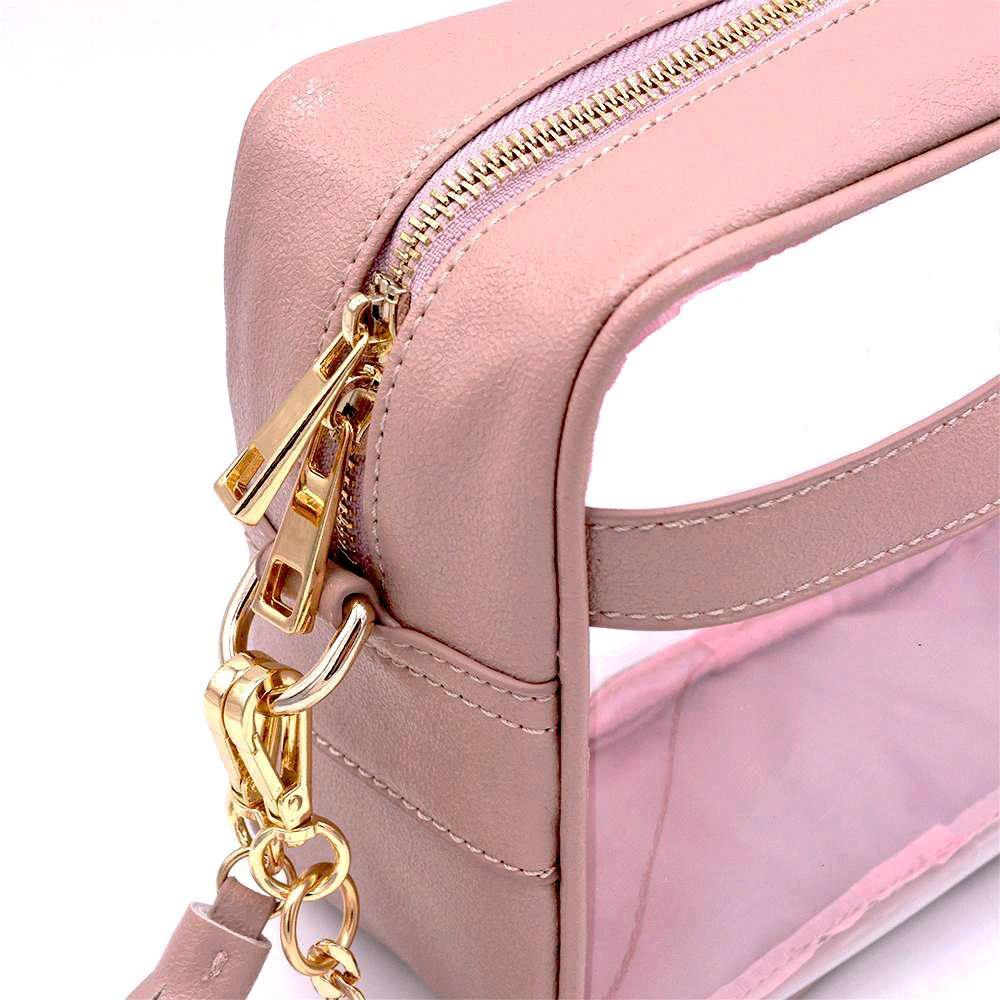 clear handbag cross body blush