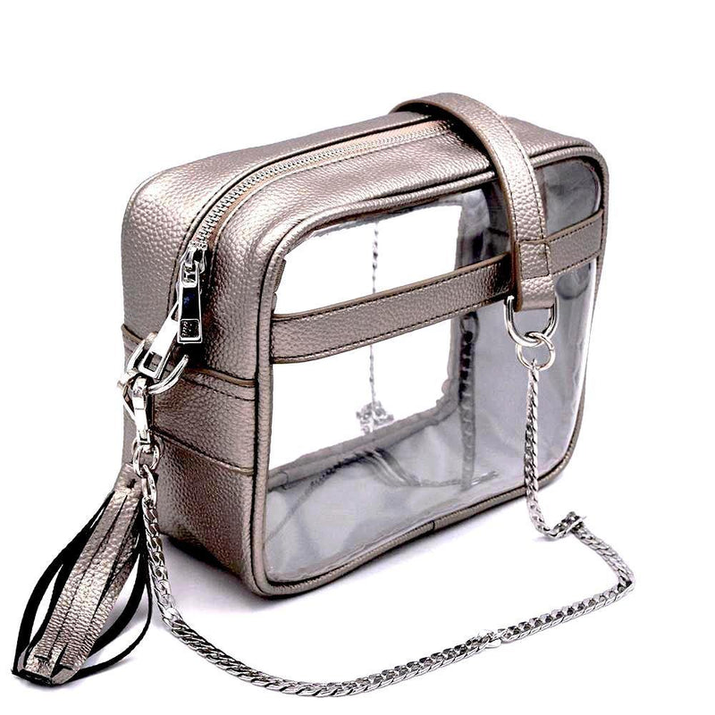 The Bare Cave- Metallic Pewter | POLICY Handbags | POLICY Handbags