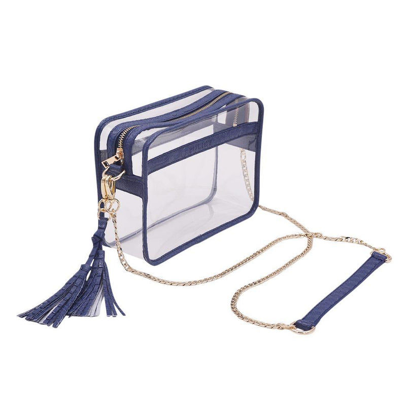 The Basic Bare- Navy Snake - Policy Handbags