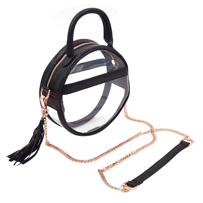 The Roundie Halo- Black Scales - POLICY Handbags Policy Bag