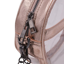 The Bare Roundie- Rose Gold Foil - POLICY Handbags Policy Bag