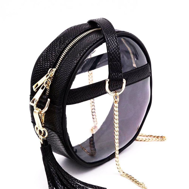 The Roundie | Black Scales | POLICY Handbags | POLICY Handbags