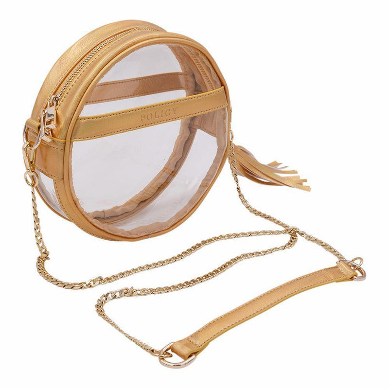 The Bare Roundie- Gleaming Gold - POLICY Handbags Policy Bag