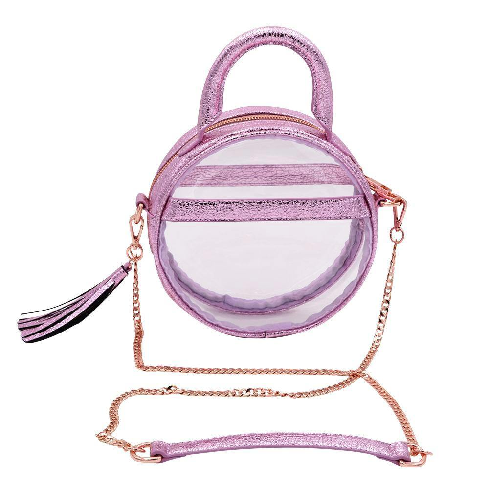 The Roundie Halo- Metallic Amethyst | POLICY Handbags | POLICY Handbags