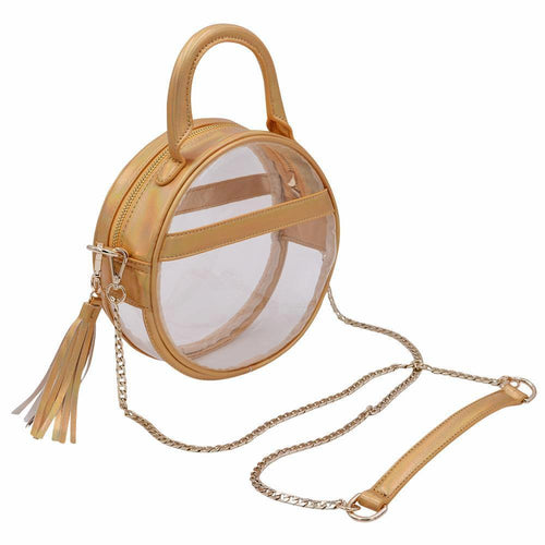 The Roundie Halo- Gleaming Gold - POLICY Handbags Policy Bag