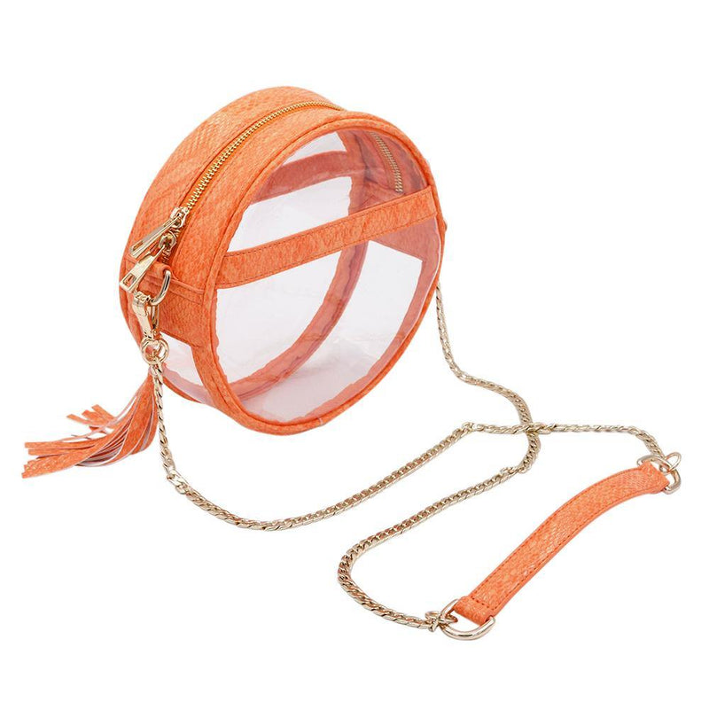 The Bare Roundie- Tangerine | POLICY Handbags | POLICY Handbags