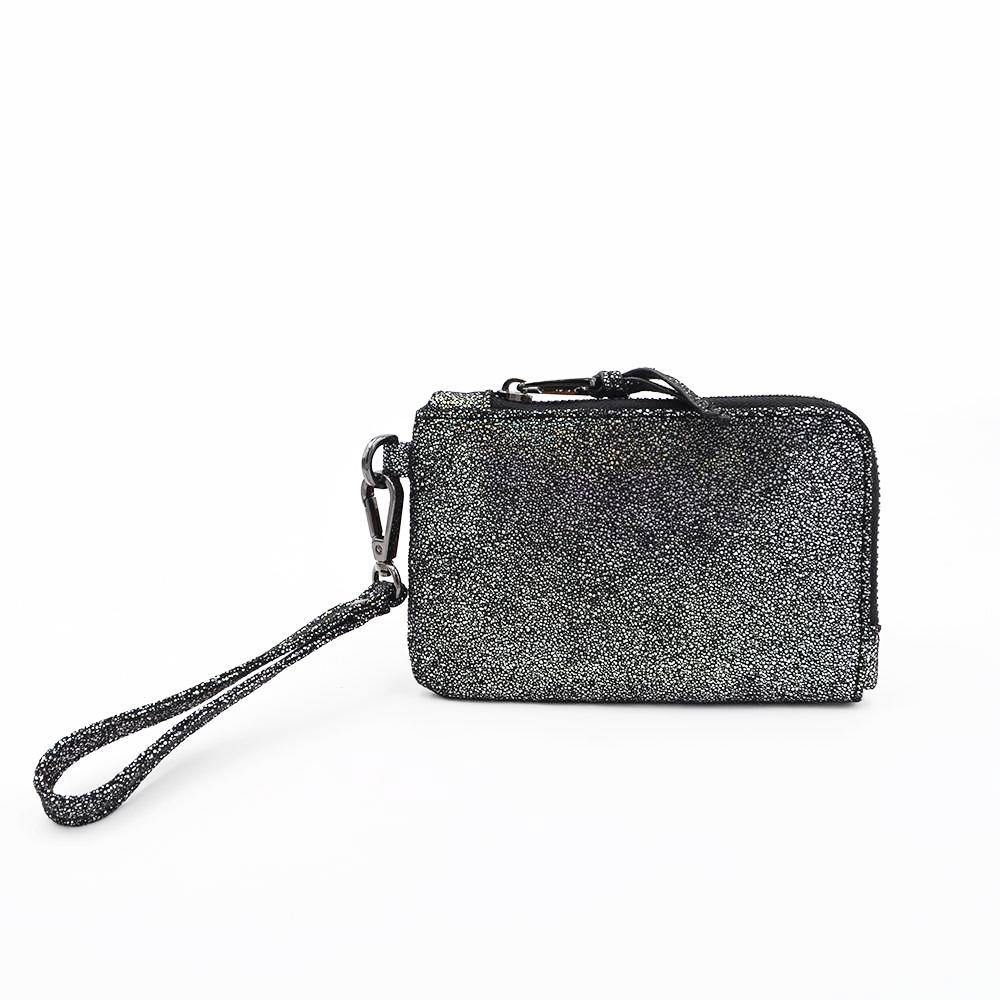 The Roo Pouch- Metallic Stingray | POLICY Handbags | POLICY Handbags