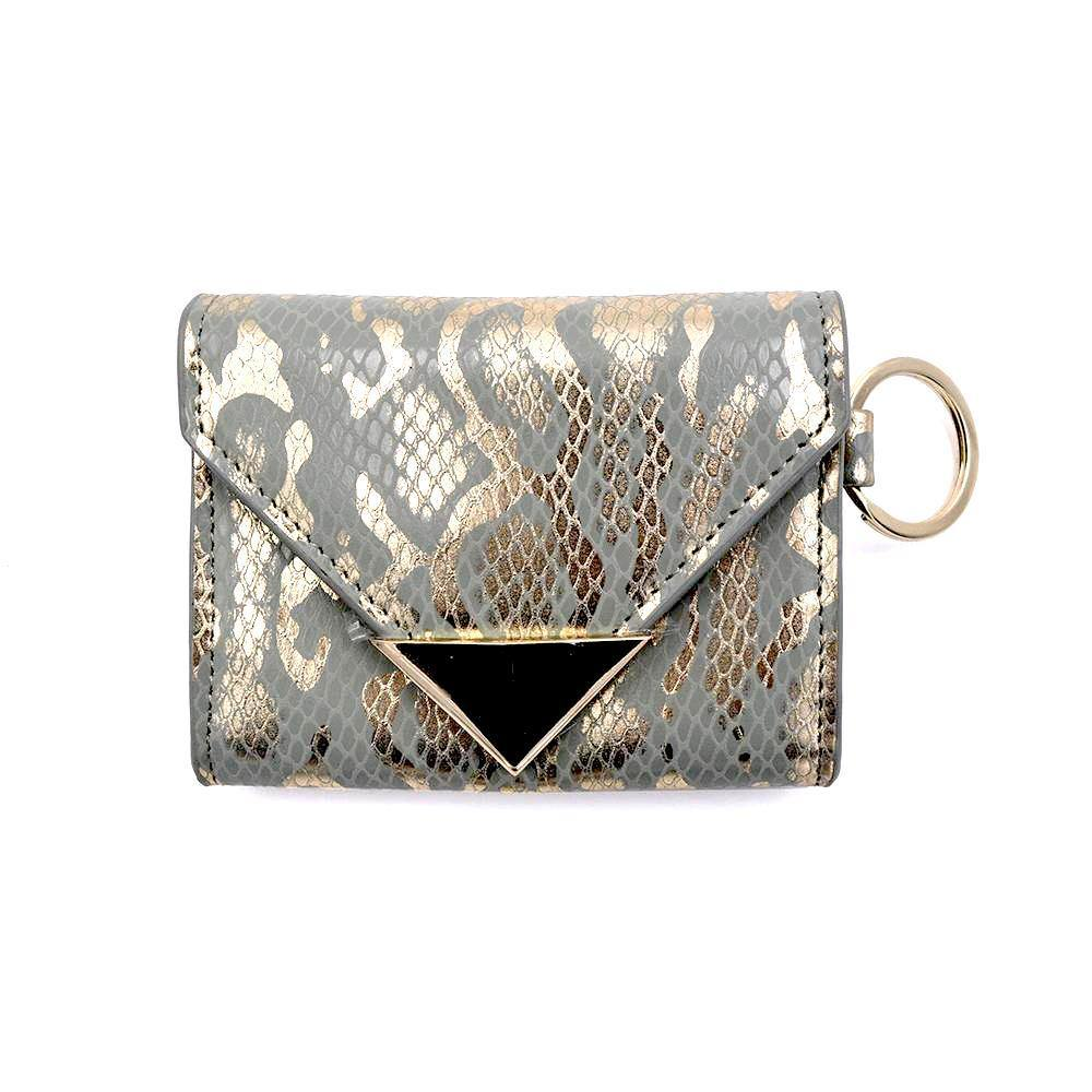 The Future Wallet Keychain- Golden Grey | POLICY Handbags | POLICY Handbags