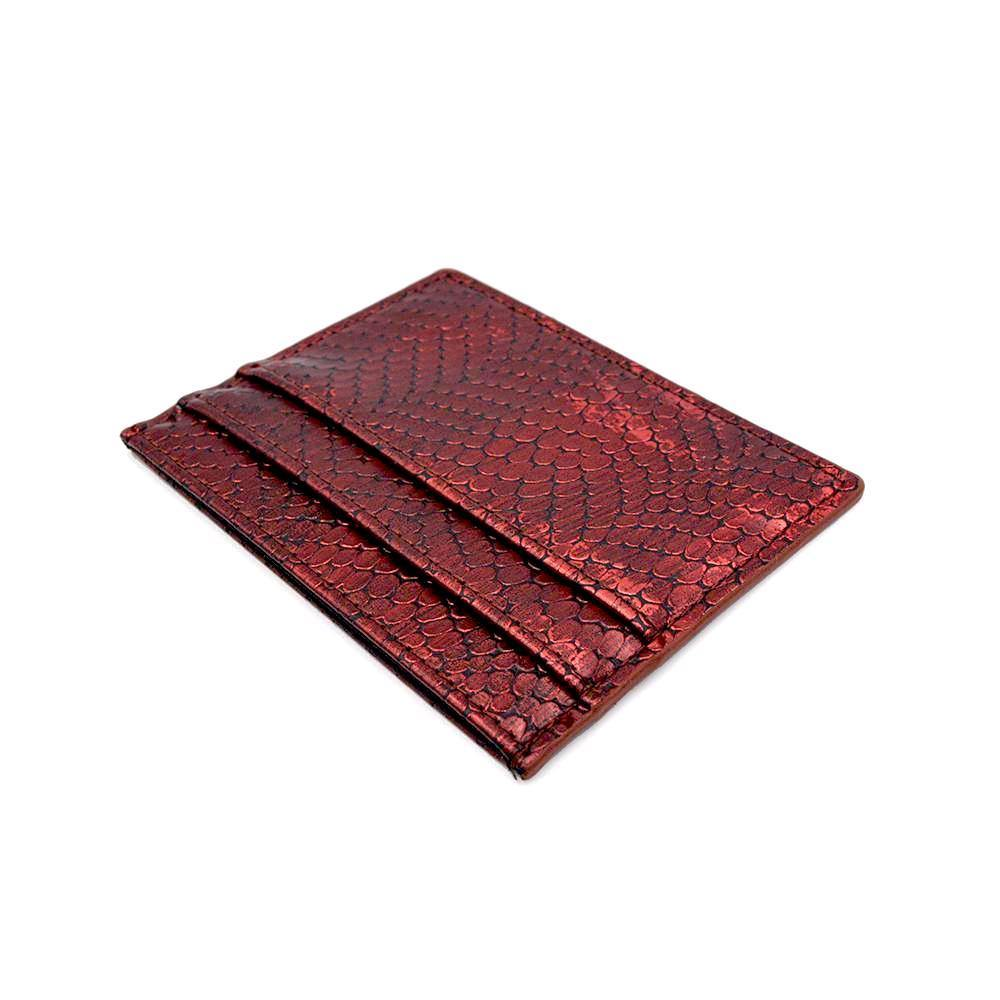card holder ruby red card case