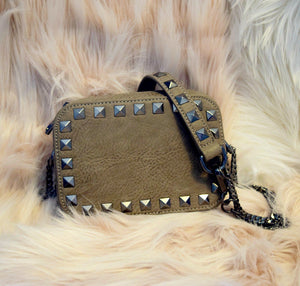 The Stunner- Cement Stud | POLICY Handbags | POLICY Handbags