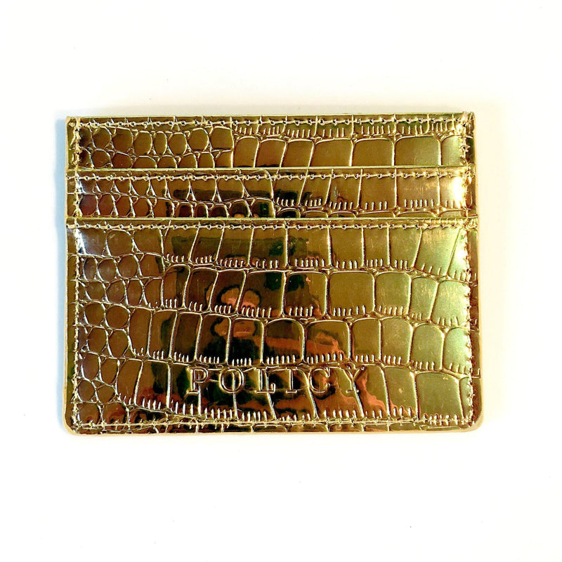 The iCard Holder- Holographic Gold - Policy Handbags