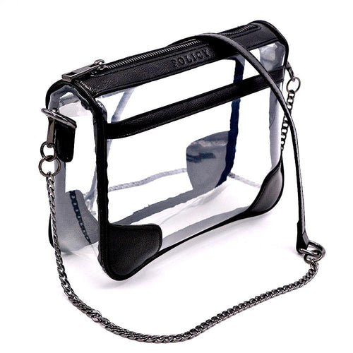 black clear bag policy handbags