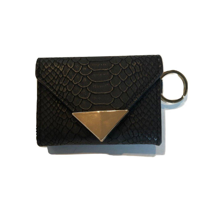 The Future Wallet Keychain- Black Snake | POLICY Handbags