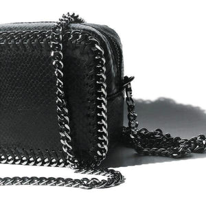 the LocoMoto Crossbody | Black Snake | POLICY Handbags | POLICY Handbags