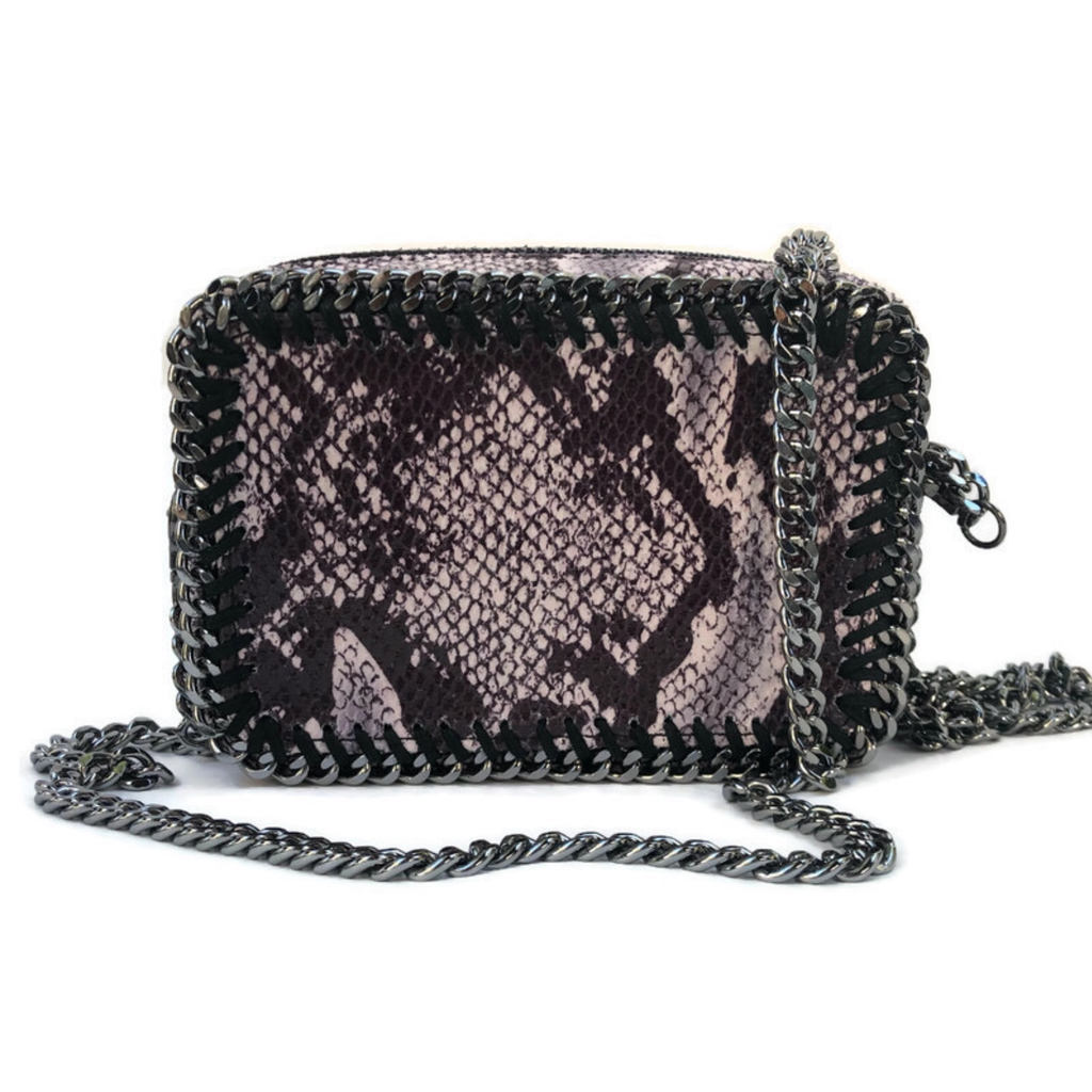 the LocoMoto Crossbody | Wild Snake | POLICY Handbags
