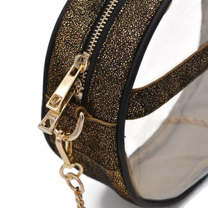 The Roundie- Gold Skylight | POLICY Handbags | POLICY Handbags