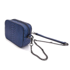 The Hawkins- Blue Boa | POLICY Handbags | POLICY Handbags