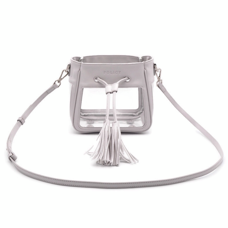 The Mini Bare Bucket | Elephant Gray | POLICY Handbags