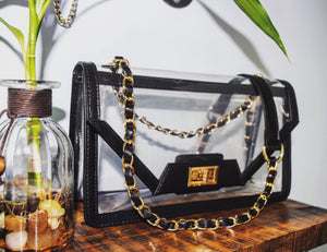 The Mama Cher - Onyx & Gold Handbag POLICY Handbags