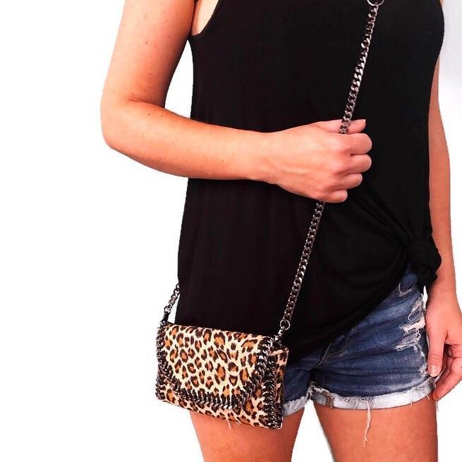 Mama Moto Clutch | Lucky Leopard POLICY Handbags