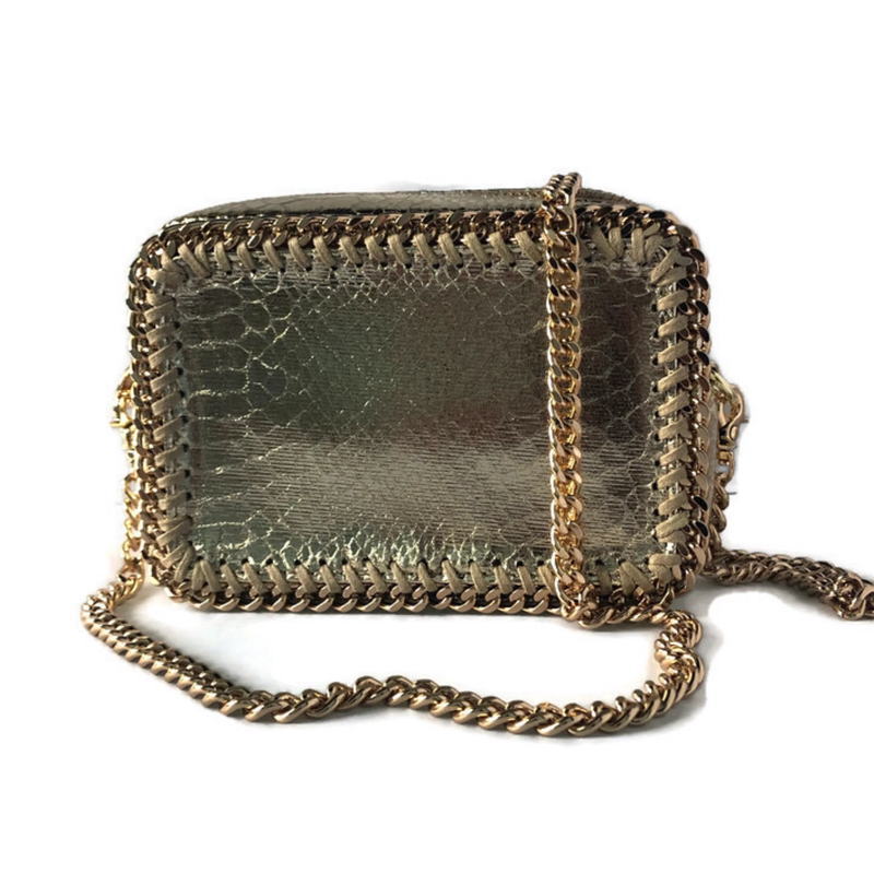 the LocoMoto Crossbody | Serpent Shine | POLICY Handbags