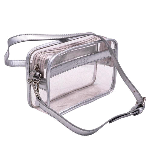 The Bare Box - Silver Glitz - POLICY Handbags Policy Bag